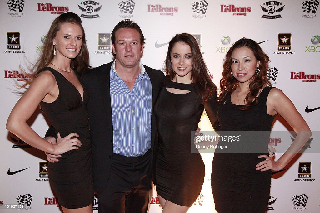 Adam Kliebert and friends attends LeBron James, Believe Entertainment Group And Spring Hill Prods. Host All-Star Celebration To Kick Off Season Two Of 'The LeBrons' at Hudson Lounge on February 15, 2013 in Houston, Texas.