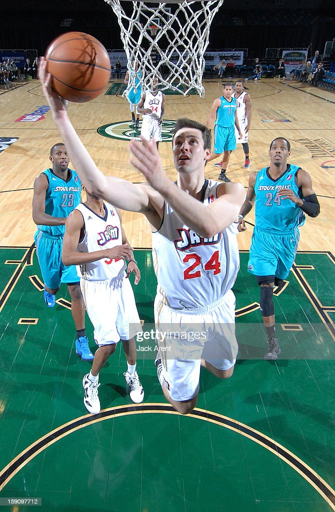 Adam Koch #24 of the Bakersfield Jam shoots the ball against the Sioux Falls Skyforce during the 2013 NBA D-League Showcase on January 7, 2013 at the Reno Events Center in Reno, Nevada.