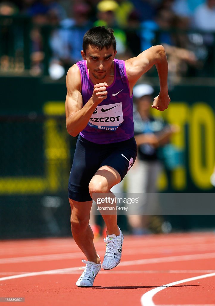Adam Kszcot of Poland competes in the 800m during day 2 of the IAAF Diamond League Prefontaine Classic at Hayward Field on May 30, 2015 in Eugene, Oregon.