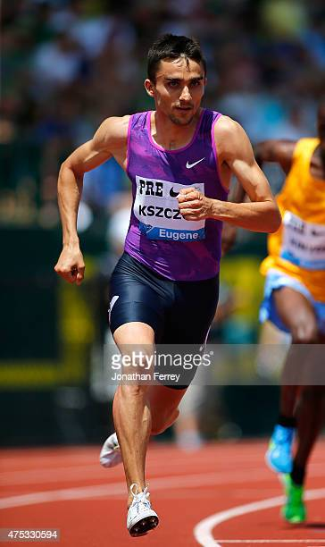 Adam Kszcot of Poland competes in the 800m during day 2 of the IAAF Diamond League Prefontaine Classic at Hayward Field on May 30 2015 in Eugene...
