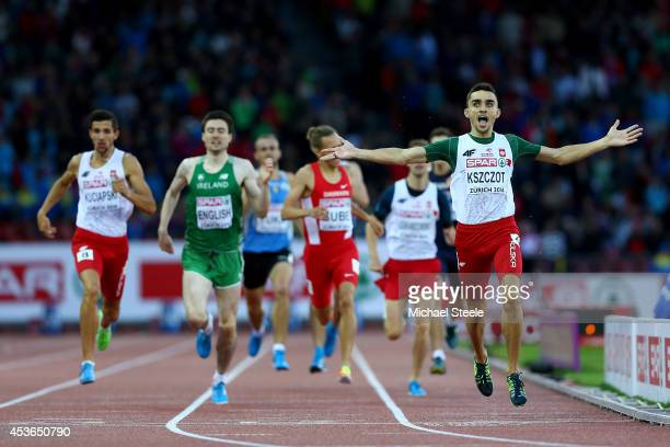 Adam Kszczot of Poland celebrates winning gold in the Men's 800 metres final during day four of the 22nd European Athletics Championships at Stadium...