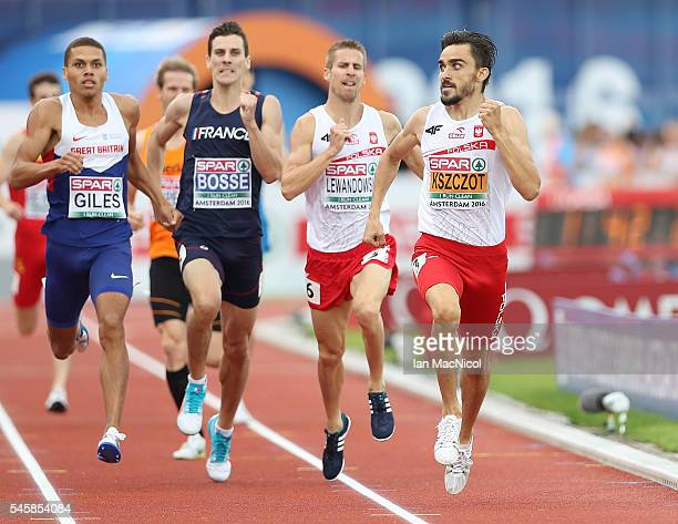 Adam Kszczot of Poland in action during the final of the mens 800m on day five of The 23rd European Athletics Championships at Olympic Stadium on...