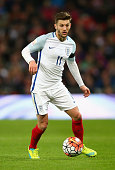 Adam Lallana of England during the International Friendly match between England and Netherlands at Wembley Stadium on March 29 2016 in London England