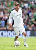 Adam Lallana of England in action during the international friendly match between Ireland and England at the Aviva Stadium on June 7 2015 in Dublin