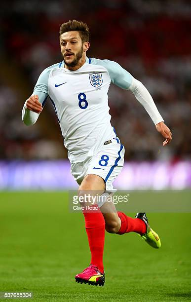Adam Lallana of England in action during the international friendly match between England and Portugal at Wembley Stadium on June 2 2016 in London...