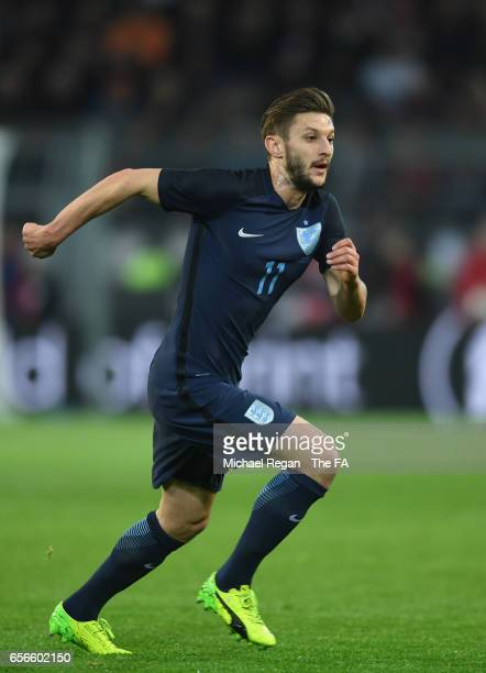 Adam Lallana of England in action during the international friendly match between Germany and England at Signal Iduna Park on March 22 2017 in...