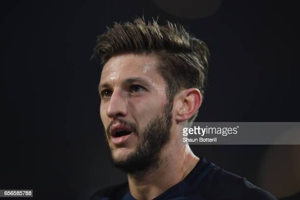 Adam Lallana of England looks on during the international friendly match between Germany and England at Signal Iduna Park on March 22 2017 in...