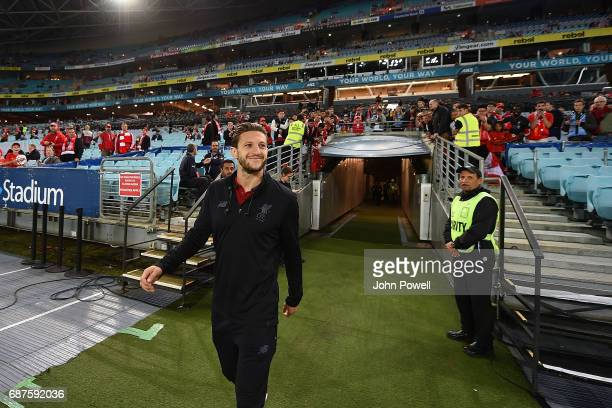 Adam Lallana of Liverpool before the International Friendly match between Sydney FC and Liverpool FC at ANZ Stadium on May 24 2017 in Sydney Australia