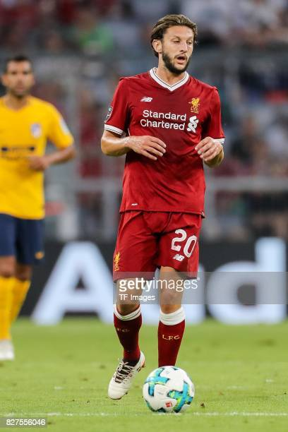 Adam Lallana of Liverpool controls the ball during the Audi Cup 2017 match between Liverpool FC and Atletico Madrid at Allianz Arena on August 2 2017...