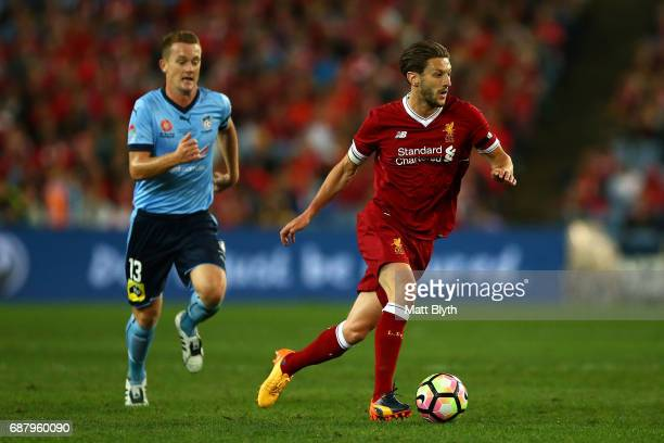 Adam Lallana of Liverpool controls the ball during the International Friendly match between Sydney FC and Liverpool FC at ANZ Stadium on May 24 2017...
