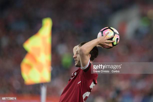 Adam Lallana of Liverpool during the International Friendly match between Sydney FC and Liverpool FC at ANZ Stadium on May 24 2017 in Sydney Australia