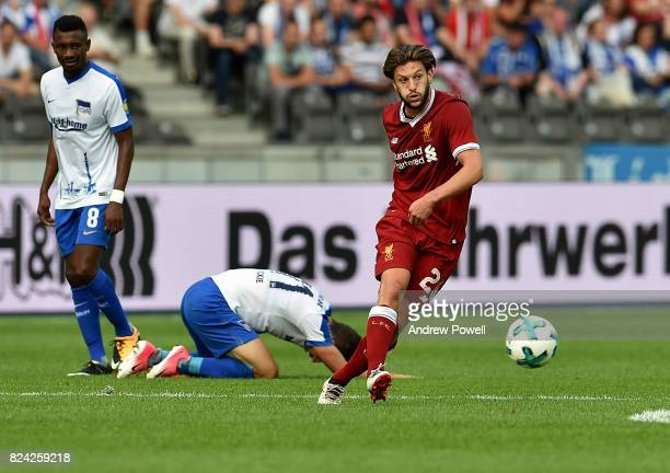 Adam Lallana of Liverpool during the preseason friendly match between Hertha BSC and FC Liverpool at Olympiastadion on July 29 2017 in Berlin Germany