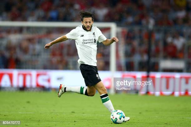 Adam Lallana of Liverpool during the second Audi Cup football match between FC Bayern Munich and FC Liverpool in the stadium in Munich southern...