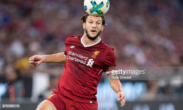 Adam Lallana of Liverpool FC controls the ball during the Audi Cup 2017 match between Liverpool FC and Atletico Madrid at Allianz Arena on August 2...