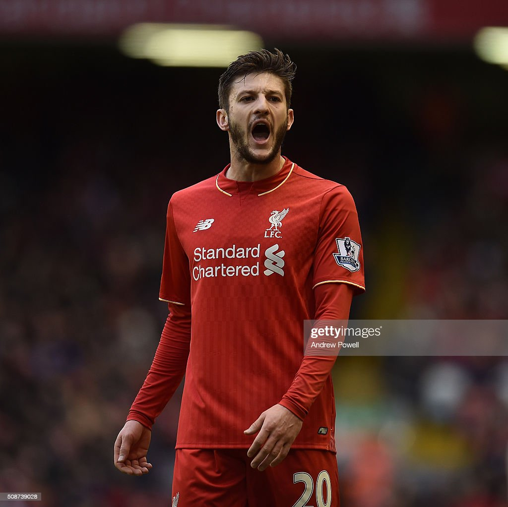 <a gi-track='captionPersonalityLinkClicked' href=/galleries/search?phrase=Adam+Lallana&family=editorial&specificpeople=5475862 ng-click='$event.stopPropagation()'>Adam Lallana</a> of Liverpool reacts during the Barclays Premier League match between Liverpool and Sunderland at Anfield on February 6, 2016 in Liverpool, England.