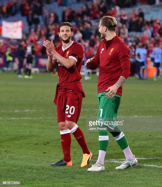 Adam Lallana of Liverpool shows his appreciation to the fans at the end of the International Friendly match between Sydney FC and Liverpool FC at ANZ...