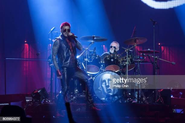 Adam Lambert and Roger Taylor of Queen Adam Lambert perform at Pepsi Live at Rogers Arena at Pepsi Live at Rogers Arena on July 2 2017 in Vancouver...