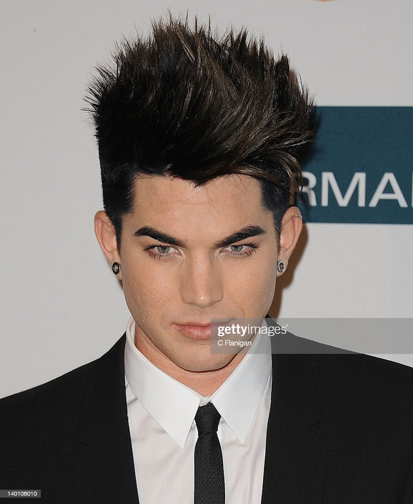 <a gi-track='captionPersonalityLinkClicked' href=/galleries/search?phrase=Adam+Lambert&family=editorial&specificpeople=5706674 ng-click='$event.stopPropagation()'>Adam Lambert</a> arrives at Clive Davis and The Recording Academy's 2012 Salute To Industry Icons Gala at The Beverly Hilton hotel on February 11, 2012 in Beverly Hills, California.