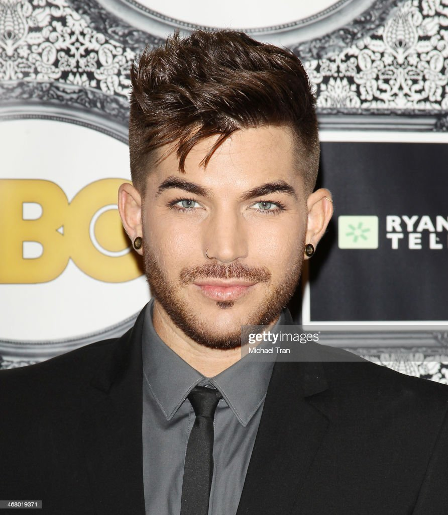 Adam Lambert arrives at the Family Equality Council's Los Angeles Awards dinner held at The Globe Theatre on February 8 2014 in Universal City...
