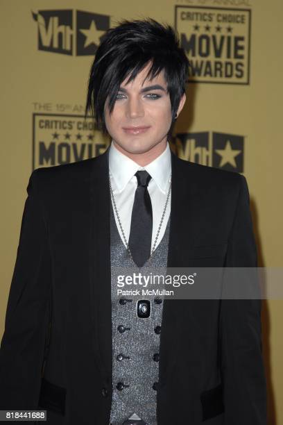 Adam Lambert attends 2010 Critics Choice Awards at The Palladium on January 15 2010 in Hollywood California