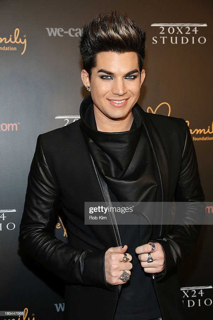 Adam Lambert attends 2013 We Are Family Foundation Gala at Hammerstein Ballroom on January 31, 2013 in New York City.