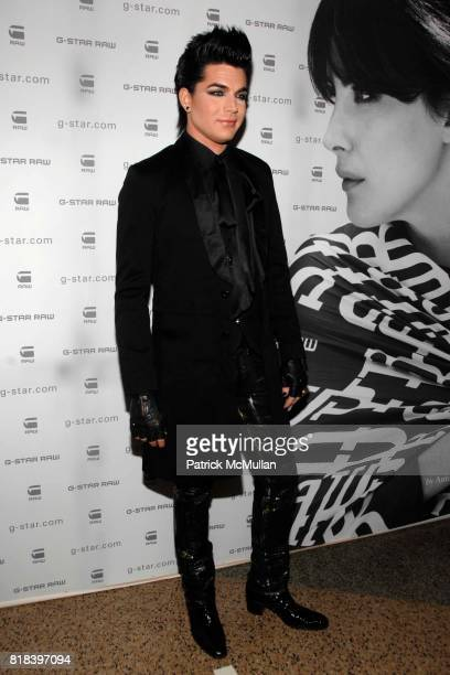 Adam Lambert attends GSTAR RAW Presents NY RAW Fall/Winter 2010 Collection Arrivals at Hammerstein Ballroom on February 16 2010 in New York City