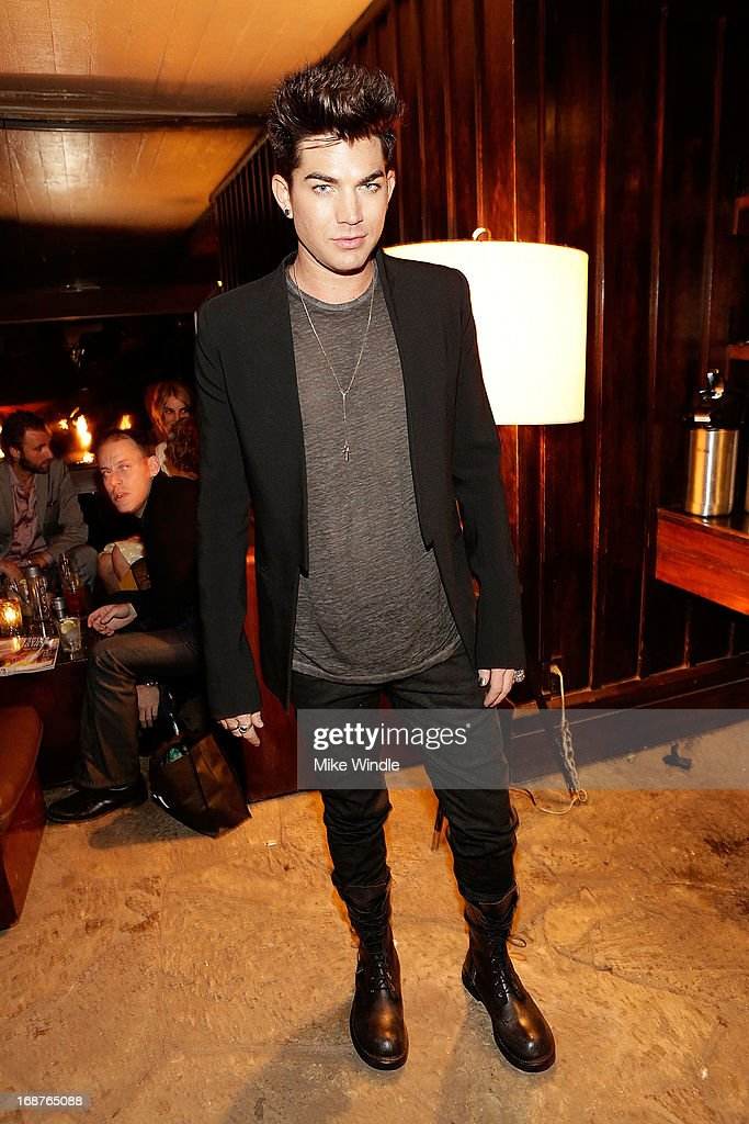 Adam Lambert attends NYLON and Onitsuka Tiger celebrate the annual May Young Hollywood issue at The Roosevelt Hotel on May 14, 2013 in Hollywood, California.