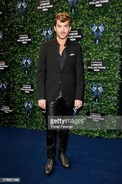 Adam Lambert attends One For The Boys Fashion Ball hosted by Samuel L Jackson uniting men against cancer to kick start London Collections Men at The...