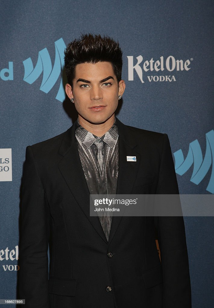 <a gi-track='captionPersonalityLinkClicked' href=/galleries/search?phrase=Adam+Lambert&family=editorial&specificpeople=5706674 ng-click='$event.stopPropagation()'>Adam Lambert</a> attends the 24th Annual GLAAD Media Awards at the Hilton San Francisco - Union Square on May 11, 2013 in San Francisco, California.