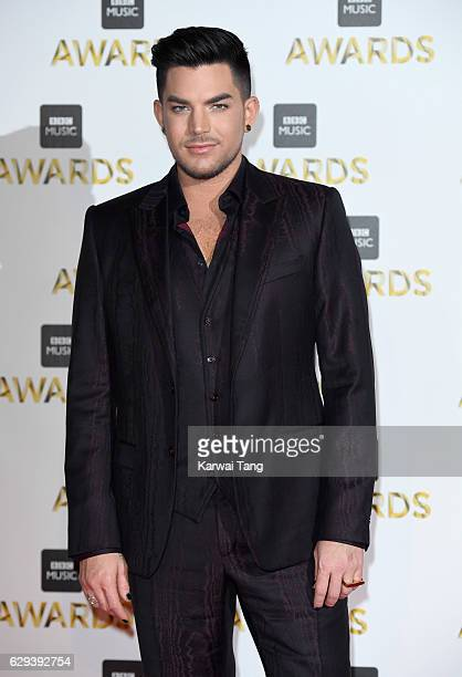 Adam Lambert attends the BBC Music Awards at ExCel on December 12 2016 in London England