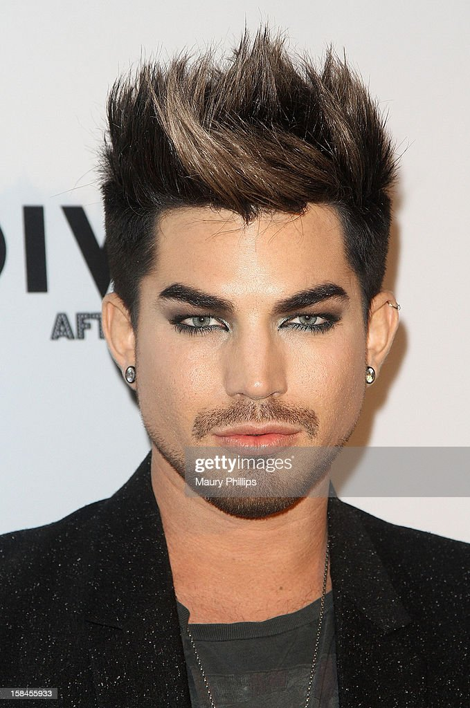 Adam Lambert attends the Official VH1 Divas after party to benefit VH1 Save The Music Foundation at The Shrine Expo Hall on December 16, 2012 in Los Angeles, California.