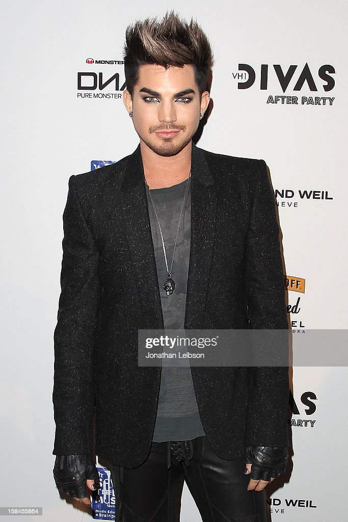 Adam Lambert attends the VH1 Divas After Party To Benefit The VH1 Save The Music Foundation at The Shrine Auditorium on December 16, 2012 in Los Angeles, California.