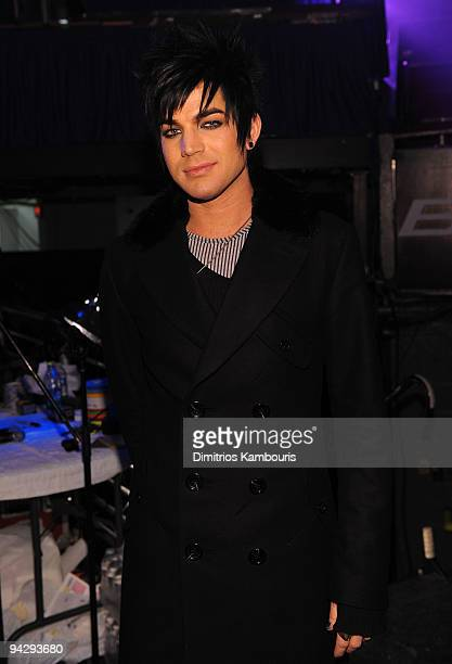 *EXCLUSIVE* Adam Lambert attends Z100's Jingle Ball 2009 presented by HM at Madison Square Garden on December 11 2009 in New York City