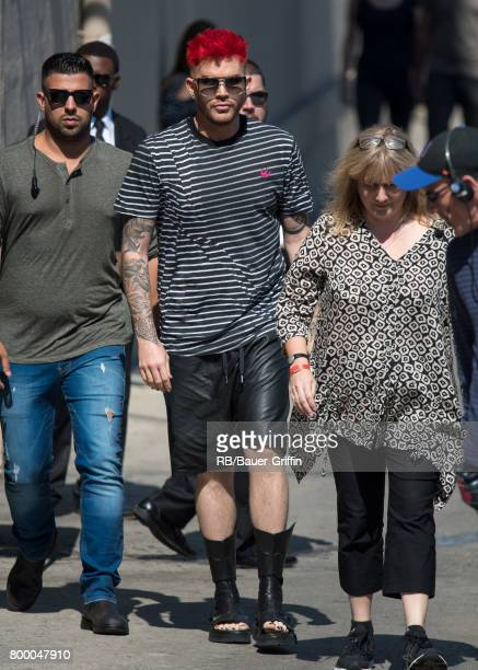 Adam Lambert is seen at 'Jimmy Kimmel Live' on June 22 2017 in Los Angeles California