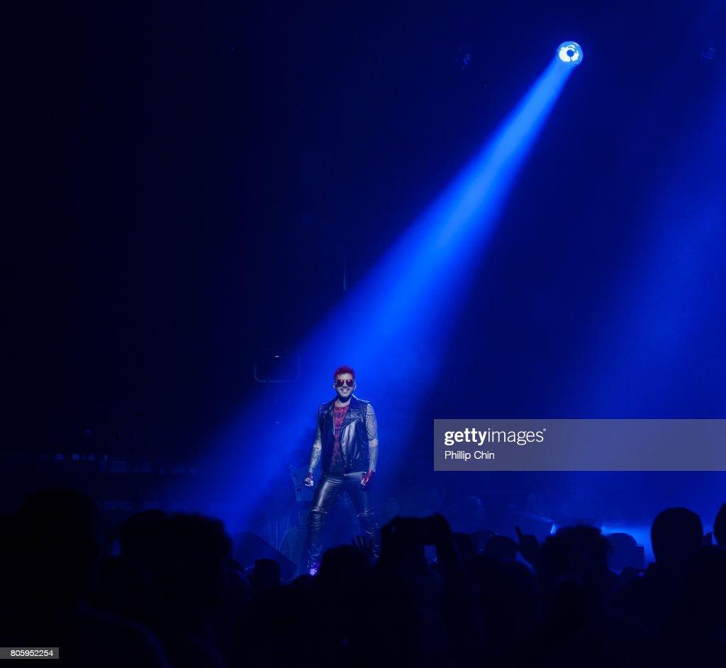 Adam Lambert of Queen + Adam Lambert perform at Pepsi Live at Rogers Arena at Pepsi Live at Rogers Arena on July 2, 2017 in Vancouver, Canada.