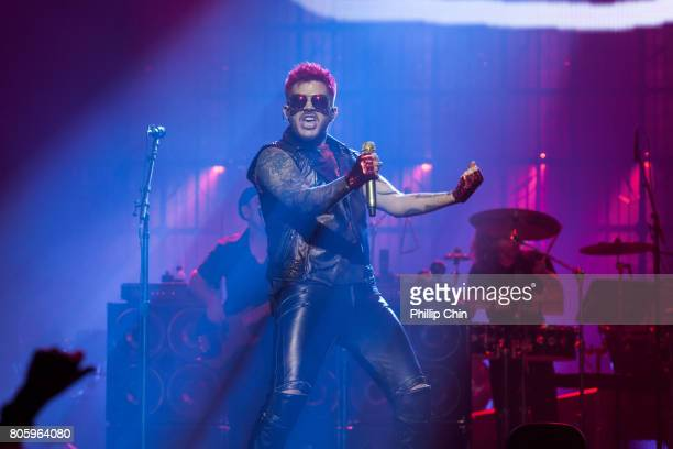 Adam Lambert of Queen Adam Lambert perform at Pepsi Live at Rogers Arena at Pepsi Live at Rogers Arena on July 2 2017 in Vancouver Canada