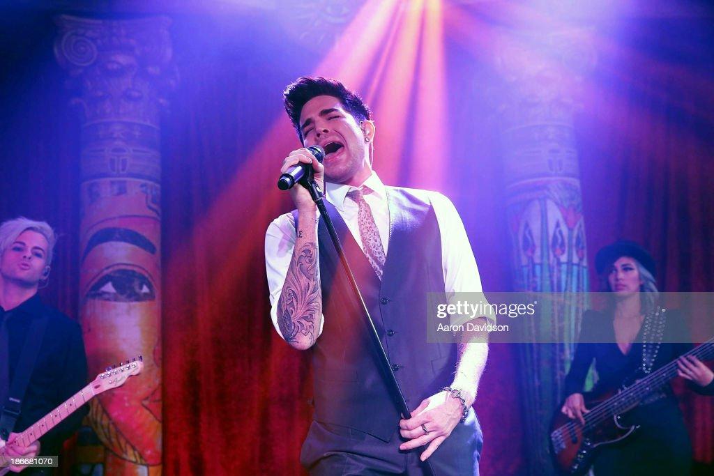 Adam Lambert performs at 19th Annual Miami MakeAWish Ball at InterContinental Hotel on November 2 2013 in Miami Florida