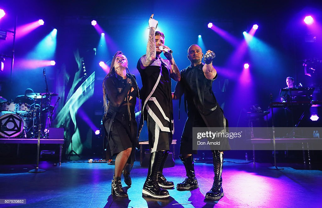 Adam Lambert performs at Enmore Theatre on January 30 2016 in Sydney Australia