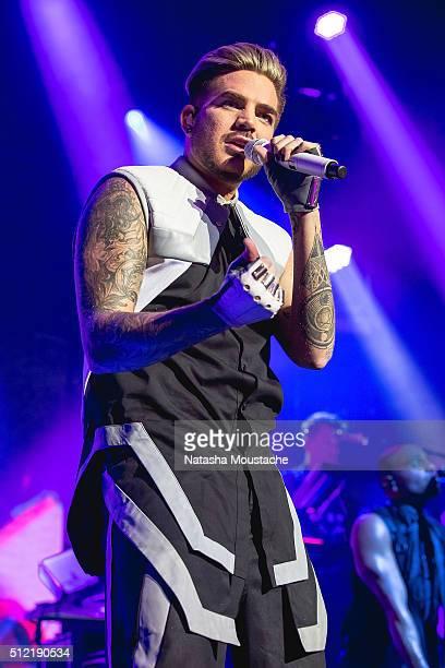 Adam Lambert performs at House of Blues Boston on February 24 2016 in Boston Massachusetts