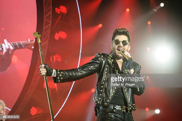 Adam Lambert performs on stage at Olympiahalle on February 2 2015 in Munich Germany