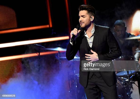 Adam Lambert performs onstage during the 2015 'CMT Artists of the Year' at Schermerhorn Symphony Center on December 2 2015 in Nashville Tennessee