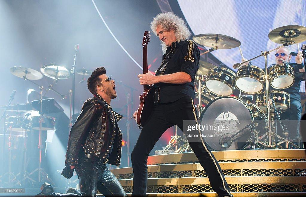 Queen & Adam Lambert Perform At The 02 Arena