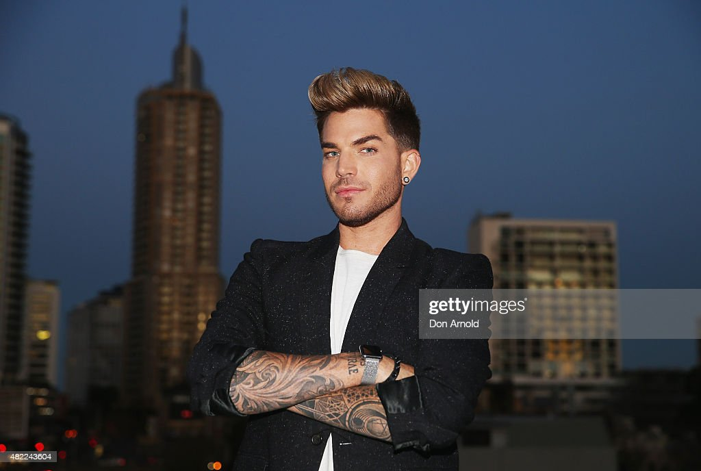 <a gi-track='captionPersonalityLinkClicked' href=/galleries/search?phrase=Adam+Lambert&family=editorial&specificpeople=5706674 ng-click='$event.stopPropagation()'>Adam Lambert</a> poses during the Voice Live Finals Show Launch on July 29, 2015 in Sydney, Australia.