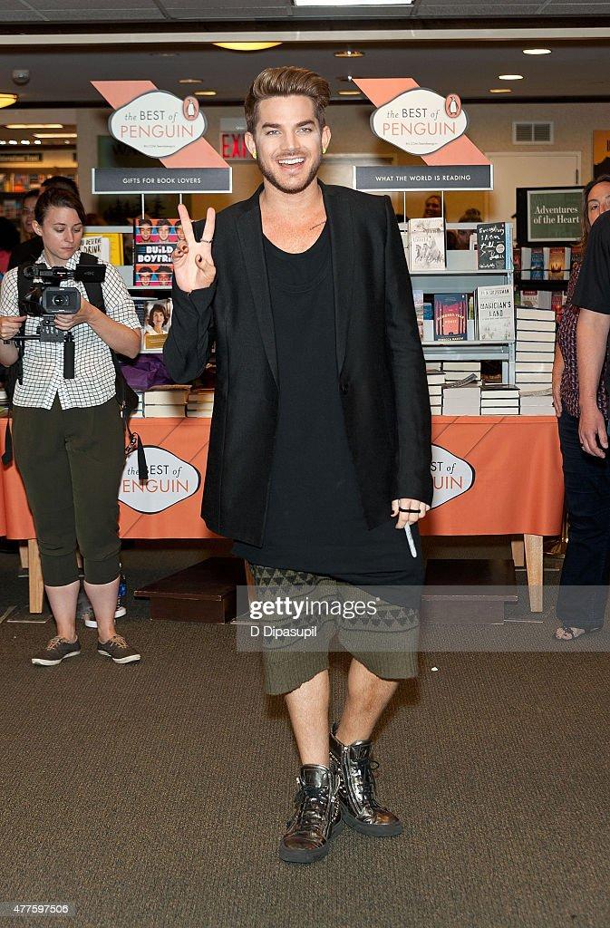 Adam Lambert promotes his album 'The Original High' at Barnes Noble Citigroup Center on June 18 2015 in New York City