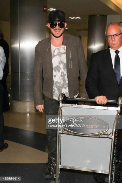 Adam Lambert seen at LAX on September 18 2014 in Los Angeles California