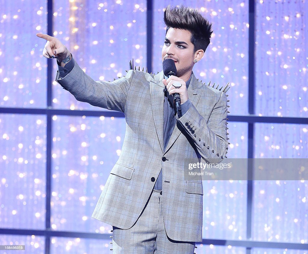Adam Lambert speaks onstage at the 'VH1 Divas' show held at The Shrine Auditorium on December 16, 2012 in Los Angeles, California.