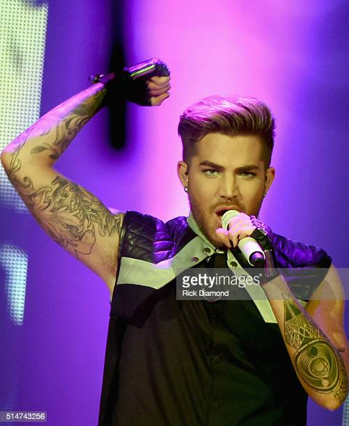 Adam Lambert 'The Original High' Tour stops at The Ryman Auditorium on March 10 2016 in Nashville Tennessee