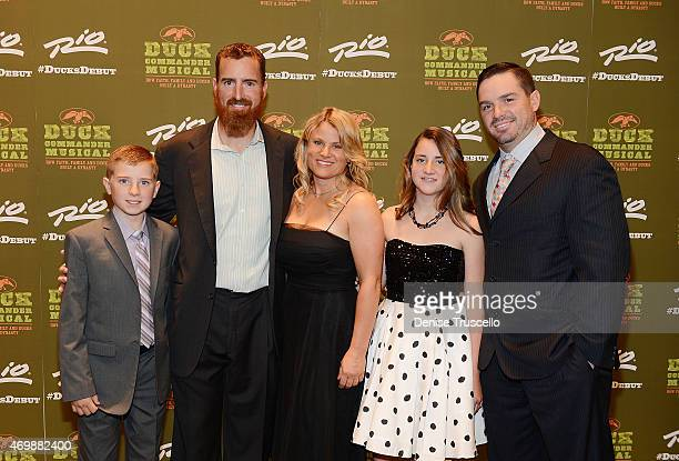 Adam LaRoche and his family arrive at the world premiere of 'Duck Commander Musical' at Rio AllSuite Hotel Casino on April 15 2015 in Las Vegas Nevada