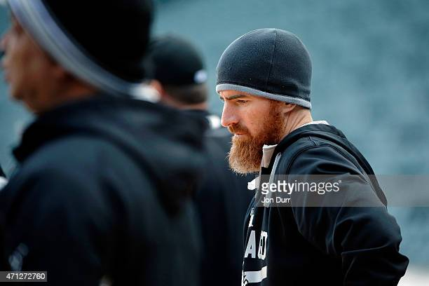 Adam LaRoche of the Chicago White Sox before the game against the Kansas City Royals on April 23 2015 at US Cellular Field in Chicago Illinois