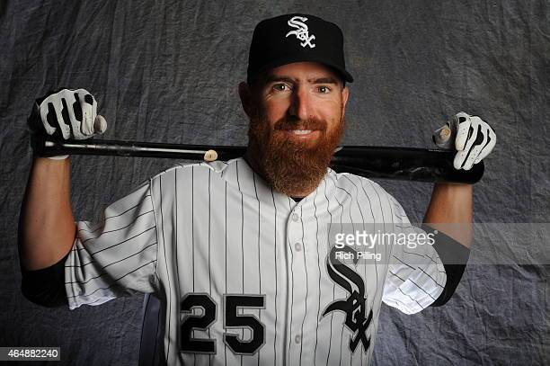 Adam LaRoche of the Chicago White Sox poses for a portrait during Photo Day on February 28 2015 at Camelback RanchGlendale in Glendale Arizona